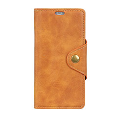 Custodia Portafoglio In Pelle Cover con Supporto L01 per HTC U12 Life Arancione
