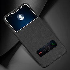 Custodia Portafoglio In Pelle Cover con Supporto L01 per Huawei Enjoy 10 Plus Nero