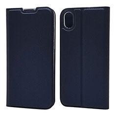 Custodia Portafoglio In Pelle Cover con Supporto L01 per Huawei Enjoy 8S Blu