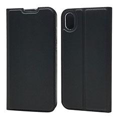 Custodia Portafoglio In Pelle Cover con Supporto L01 per Huawei Enjoy 8S Nero