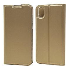 Custodia Portafoglio In Pelle Cover con Supporto L01 per Huawei Enjoy 8S Oro