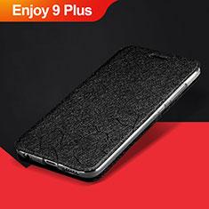 Custodia Portafoglio In Pelle Cover con Supporto L01 per Huawei Enjoy 9 Plus Nero