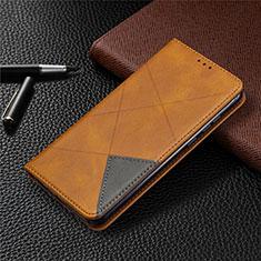 Custodia Portafoglio In Pelle Cover con Supporto L01 per Huawei Honor 9A Arancione