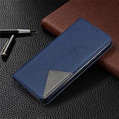 Custodia Portafoglio In Pelle Cover con Supporto L01 per Huawei Honor 9A Blu