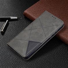 Custodia Portafoglio In Pelle Cover con Supporto L01 per Huawei Honor 9A Grigio