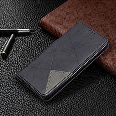 Custodia Portafoglio In Pelle Cover con Supporto L01 per Huawei Honor 9A Nero