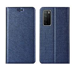Custodia Portafoglio In Pelle Cover con Supporto L01 per Huawei Honor Play4 5G Blu