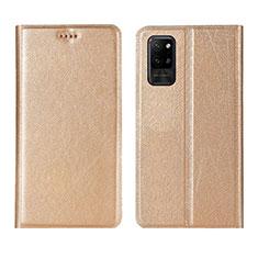 Custodia Portafoglio In Pelle Cover con Supporto L01 per Huawei Honor Play4 Pro 5G Oro
