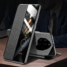 Custodia Portafoglio In Pelle Cover con Supporto L01 per Huawei Mate 40 RS Nero