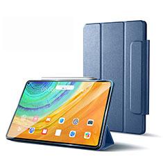 Custodia Portafoglio In Pelle Cover con Supporto L01 per Huawei MatePad Pro 5G 10.8 Grigio Lavanda