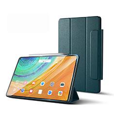 Custodia Portafoglio In Pelle Cover con Supporto L01 per Huawei MatePad Pro 5G 10.8 Verde Notte