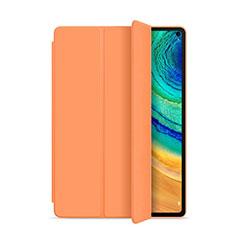 Custodia Portafoglio In Pelle Cover con Supporto L01 per Huawei MatePad Pro Arancione