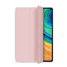 Custodia Portafoglio In Pelle Cover con Supporto L01 per Huawei MatePad Pro Rosa