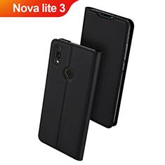 Custodia Portafoglio In Pelle Cover con Supporto L01 per Huawei Nova Lite 3 Nero