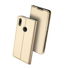 Custodia Portafoglio In Pelle Cover con Supporto L01 per Huawei Nova Lite 3 Oro