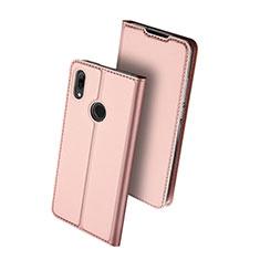 Custodia Portafoglio In Pelle Cover con Supporto L01 per Huawei Nova Lite 3 Oro Rosa