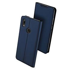 Custodia Portafoglio In Pelle Cover con Supporto L01 per Huawei P Smart (2019) Blu