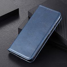 Custodia Portafoglio In Pelle Cover con Supporto L01 per Huawei P Smart (2020) Blu