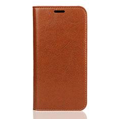Custodia Portafoglio In Pelle Cover con Supporto L01 per Huawei Y5 (2019) Arancione