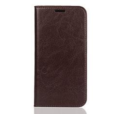 Custodia Portafoglio In Pelle Cover con Supporto L01 per Huawei Y5 (2019) Marrone