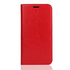 Custodia Portafoglio In Pelle Cover con Supporto L01 per Huawei Y5 (2019) Rosso