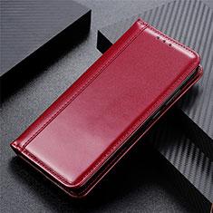 Custodia Portafoglio In Pelle Cover con Supporto L01 per Huawei Y5p Rosso Rosa