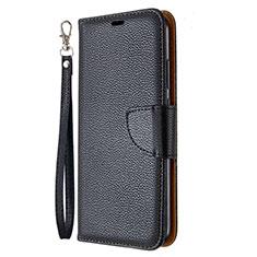 Custodia Portafoglio In Pelle Cover con Supporto L01 per Huawei Y7p Nero