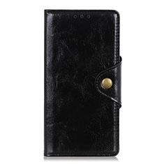 Custodia Portafoglio In Pelle Cover con Supporto L01 per Huawei Y8p Nero