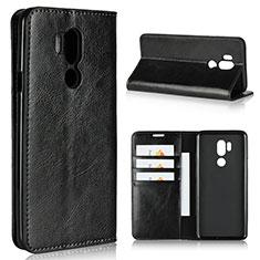 Custodia Portafoglio In Pelle Cover con Supporto L01 per LG G7 Nero