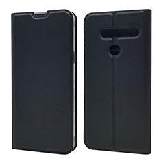 Custodia Portafoglio In Pelle Cover con Supporto L01 per LG G8 ThinQ Nero