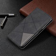 Custodia Portafoglio In Pelle Cover con Supporto L01 per LG G8X ThinQ Nero