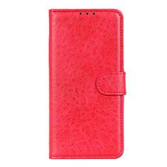 Custodia Portafoglio In Pelle Cover con Supporto L01 per LG K51 Rosso