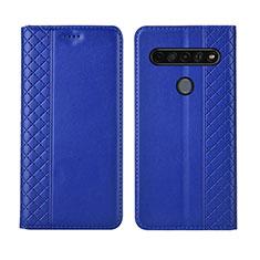 Custodia Portafoglio In Pelle Cover con Supporto L01 per LG K51S Blu