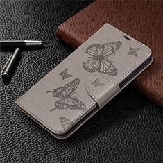 Custodia Portafoglio In Pelle Cover con Supporto L01 per LG K61 Grigio