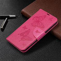 Custodia Portafoglio In Pelle Cover con Supporto L01 per LG K61 Rosa Caldo