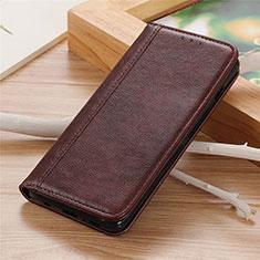 Custodia Portafoglio In Pelle Cover con Supporto L01 per LG K92 5G Marrone