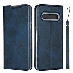 Custodia Portafoglio In Pelle Cover con Supporto L01 per LG V60 ThinQ 5G Blu