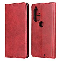 Custodia Portafoglio In Pelle Cover con Supporto L01 per Motorola Moto Edge Plus Rosso