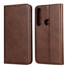 Custodia Portafoglio In Pelle Cover con Supporto L01 per Motorola Moto G8 Play Marrone