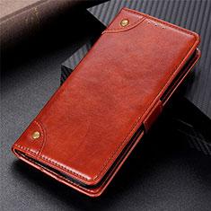 Custodia Portafoglio In Pelle Cover con Supporto L01 per Motorola Moto G9 Power Marrone Chiaro