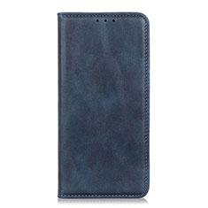 Custodia Portafoglio In Pelle Cover con Supporto L01 per Motorola Moto One Fusion Plus Blu