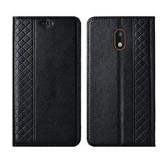 Custodia Portafoglio In Pelle Cover con Supporto L01 per Nokia 1.3 Nero