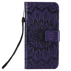 Custodia Portafoglio In Pelle Cover con Supporto L01 per Nokia 2.3 Viola