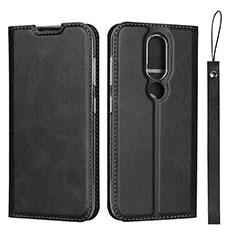 Custodia Portafoglio In Pelle Cover con Supporto L01 per Nokia 4.2 Nero