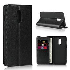 Custodia Portafoglio In Pelle Cover con Supporto L01 per OnePlus 7 Nero