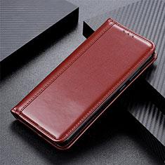 Custodia Portafoglio In Pelle Cover con Supporto L01 per OnePlus Nord Marrone