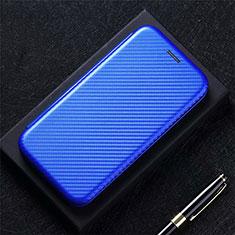 Custodia Portafoglio In Pelle Cover con Supporto L01 per Oppo A15 Blu