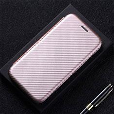 Custodia Portafoglio In Pelle Cover con Supporto L01 per Oppo A15 Oro Rosa