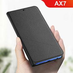 Custodia Portafoglio In Pelle Cover con Supporto L01 per Oppo AX7 Nero