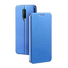 Custodia Portafoglio In Pelle Cover con Supporto L01 per Oppo R17 Pro Blu